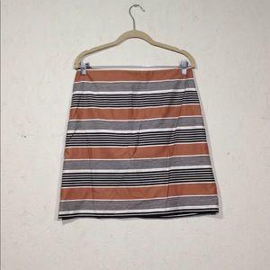 Ann Taylor LOFT   Mini Pencil Skirt Size 6 Striped